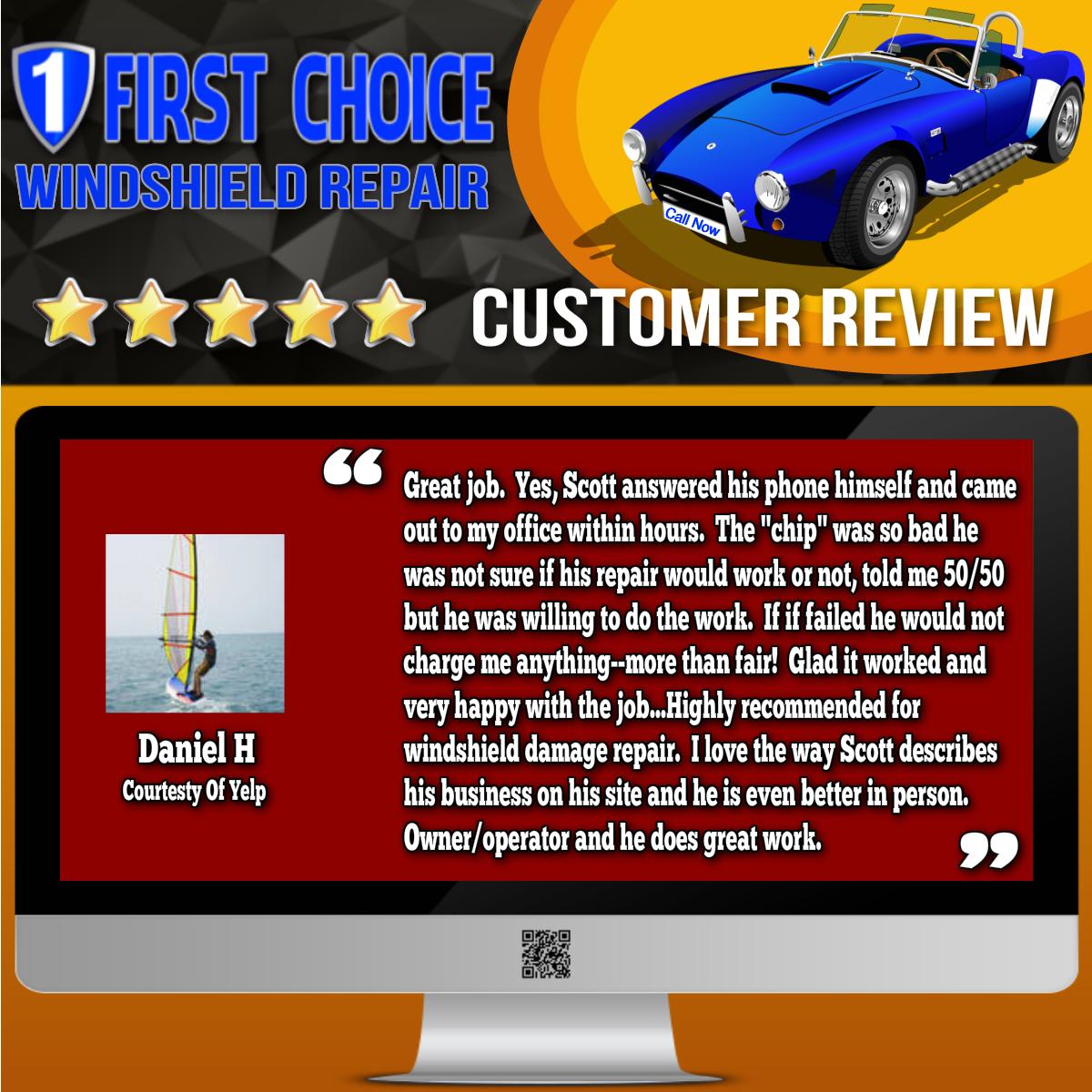 Daniel H review screenshot from Yelp