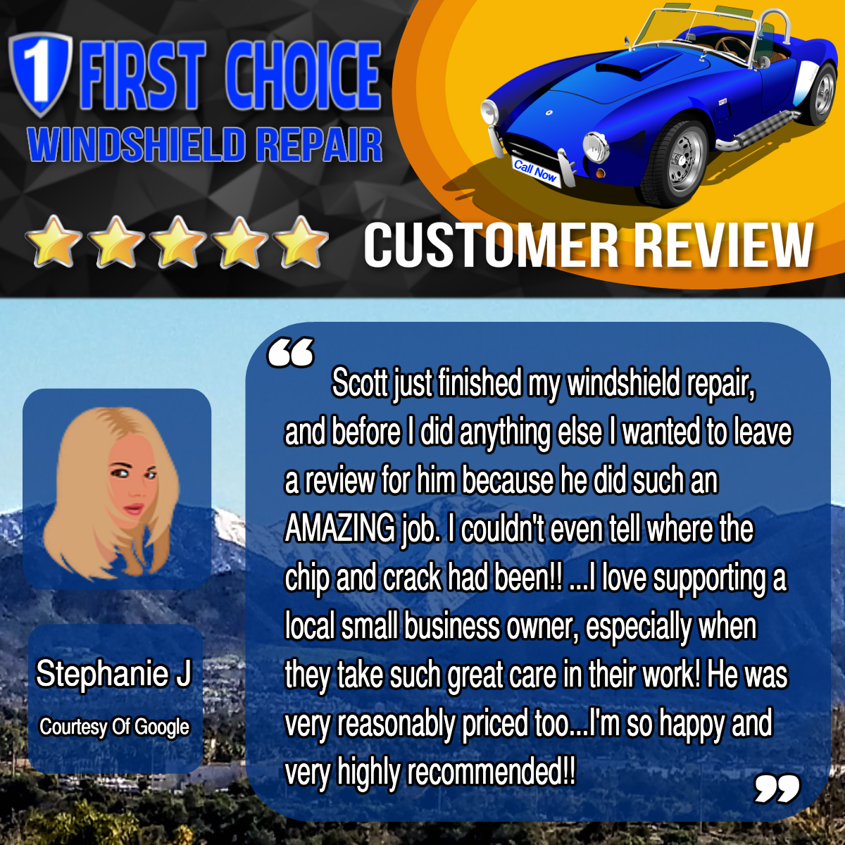 Stephanie J review screenshot from Google
