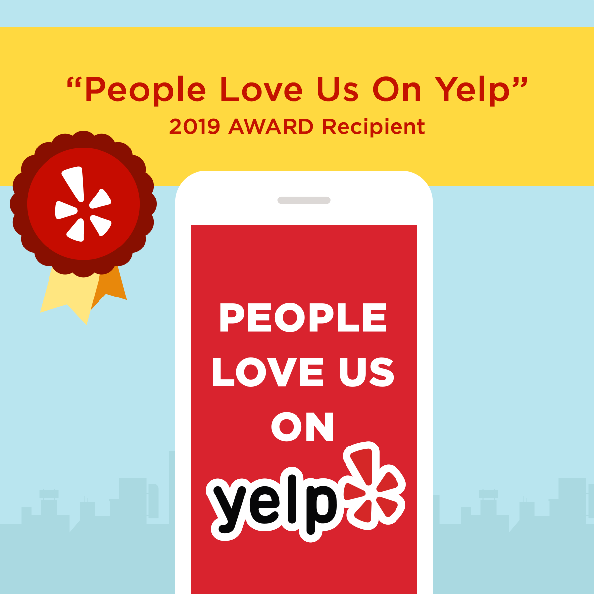 People Love Us On Yelp Award 2019