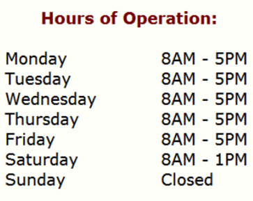 First Choice Windshield Repair Operating Hours