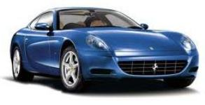 royal blue sports car